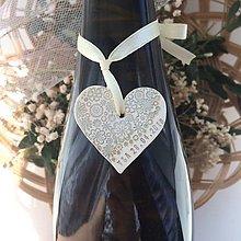 Darčeky pre svadobčanov - Ozdoby na fľaše - 9434545_