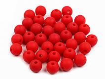 - Plastové korálky 8mm, 20 ks  (Červená) - 9435160_