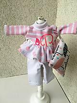 - Pyžamko pre bábiku- 26-27 cm. - 9436347_