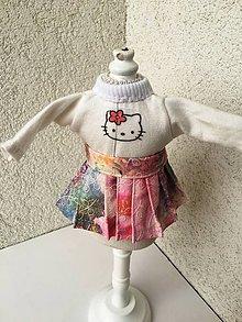 Hračky - Tričko a suknička pre bábiky- 27 cm. - 9436425_