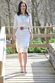 Šaty - Krajkové šaty - svadobné, možno aj pre tehotné - 9433774_