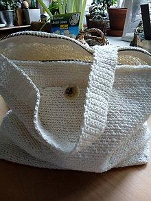 Iné tašky - biela taška na plece - 9437352_