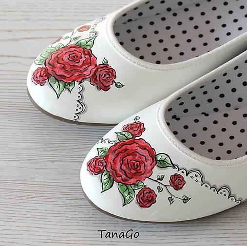 32335db783 Baleríny Ruže v čipke   TanaGo - SAShE.sk - Handmade Obuv