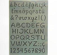 Pomôcky/Nástroje - Šablóna - 20x30 cm - abeceda, čísla, číslice - 9437038_