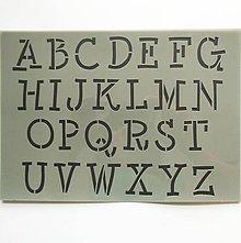 Pomôcky/Nástroje - Šablóna - 20x30 cm - abeceda, písmenká, písmo - 9437610_