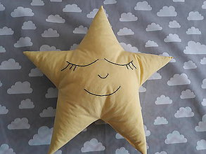 Textil - Vankúšik hviezda - 9437832_