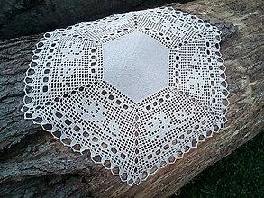 Úžitkový textil - ľanový šesťuholník - 9438295_