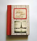 Ručne šitý diár * zápisník * sketchbook A5 ,,Paríž
