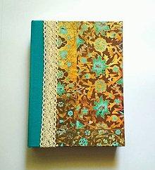 Papiernictvo - Ručne šitý diár/zápisník/sketchbook ,,Oriental