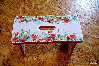 Nábytok - stolček Vlčí mak - 9438734_