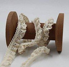 Galantéria - Bavlnená čipka elastická 20 mm / 1 m - 9438792_