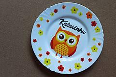Nádoby - Ručne maľované tanieriky pre detičky - 9438966_