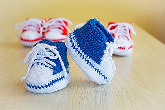 Topánočky - Štrikované papučky - 9439302_
