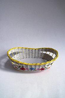 Košíky - Košík papierový - Kvetiny | žltý | oválny - 9437667_