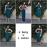 Šaty - Smaragdové 4 šaty v 1 sukni - 9438578_