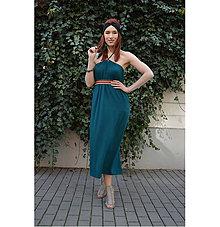 Šaty - Smaragdové 4 šaty v 1 sukni - 9438567_