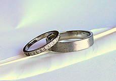 Prstene - Obrúčky s briliantmi - 9437641_