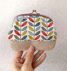 Peňaženky - Peňaženka XL Jarné lístky - 9436860_