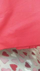 Textil - Červená s bielou bodkou š.140cm - 9438326_
