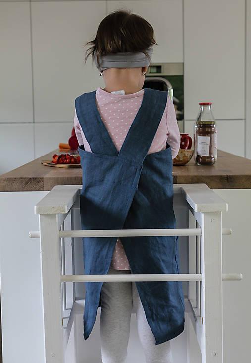 Detské oblečenie - Rastúca ľanová zásterka - 9436841_