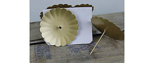 Polotovary - Starozlaté rustikálne bodce 7,5cm,4ks, ihneď - 9439133_
