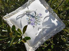 Úžitkový textil - Svadobný vankúšik - 9441225_