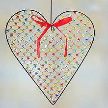 Dekorácie - farebné srdce väčšie ♥ - 9441523_