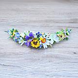 Ozdoby do vlasov - Polvenček z lúčnych kvetov - 9441688_