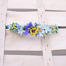 Ozdoby do vlasov - Polvenček z lúčnych kvetov - 9441697_