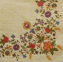 Papier - S1192 - Servítky - folk, folklórny, ľudový, výšivka, vidiecky - 9440563_