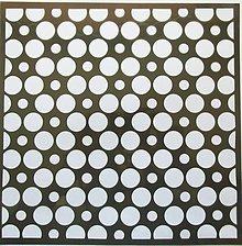 Pomôcky/Nástroje - Šablóna - 32x32 cm - kruh, kruhy, bodky, bodkované, dots - 9441230_