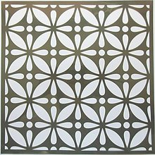 Pomôcky/Nástroje - Šablóna - 32x32 cm - kvet, mozaika, kruh, ornament, kvapka - 9441408_