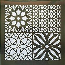 Pomôcky/Nástroje - Šablóna - 32x32 cm - mozaika, vlnkovka, ornament, štvorec - 9441581_