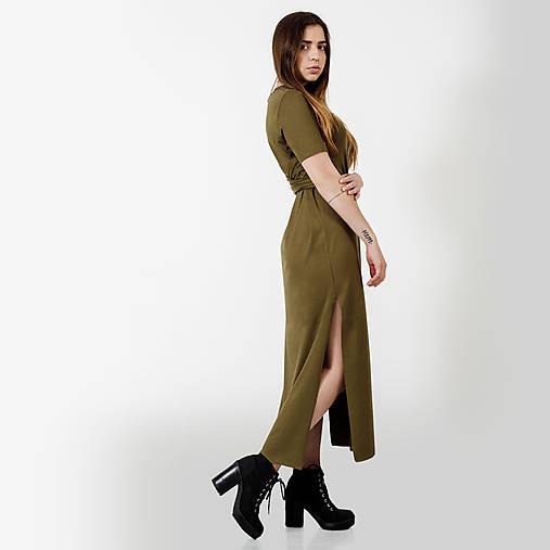 b790d65bf9 Dlhé šaty Khaki -30%   JUST LOVE - SAShE.sk - Handmade Šaty