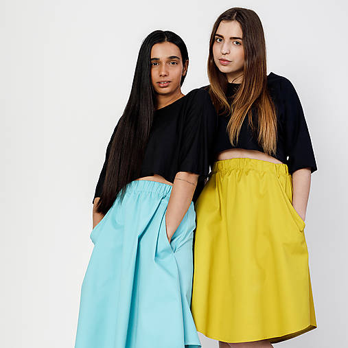 Set sukňa + crop top