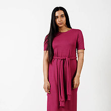 Šaty - Dlhé šaty Wine -30% - 9441691_