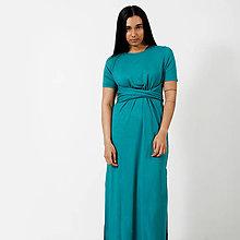 Šaty - Dlhé šaty Green -30% - 9441712_