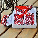 Oblečenie - Folk košeľa červeno čierny krížik - 9439784_