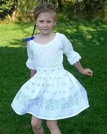 Detské oblečenie - Košeľa dievčenská s krajkou - 9440349_