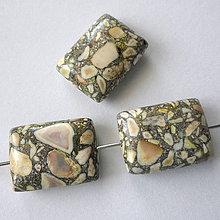 Minerály - MARBLE 15x20mm-1ks (žltá) - 9441571_
