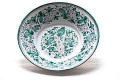 Nádoby - Zelený maľovaný tanier od najlepšieho maliara - 9441598_