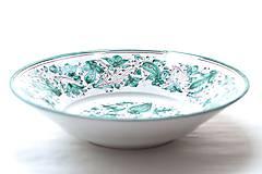 Nádoby - Zelený maľovaný tanier od najlepšieho maliara - 9441601_
