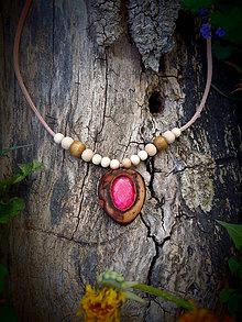 Náhrdelníky - náhrdelník s Rubínom - 9440035_