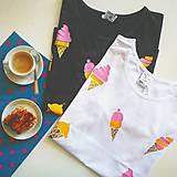 Tričká - Tričko s potlačou Ice cream (Black) - 9440306_