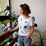 - Tričko s potlačou Green garden (White) - 9440325_