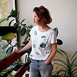 Tričká - Tričko s potlačou Green garden (White) - 9440325_