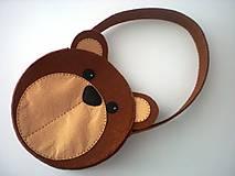 Detské tašky - Dievčenská kabelka (Medvedík) - 9440105_