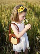 Detské tašky - Dievčenská kabelka (Medvedík) - 9440106_