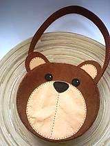 Detské tašky - Dievčenská kabelka (Medvedík) - 9440115_
