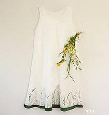 Šaty - Ľanové šaty ručne maľované - 9441155_